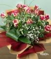Mazzo 12 Rose screziate