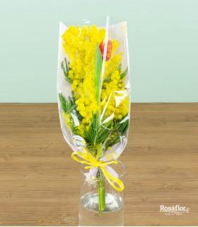 Mimosa con Tulipano - Mazzetto [Speciale Business]